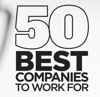 50 Best Places to Work - black and gray